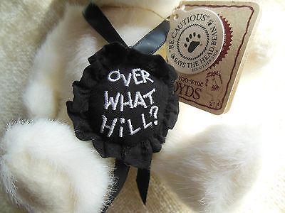 "Boyds Bear Happy Birthday Gen Yoo WIne Boyds ""Over What Hill"""