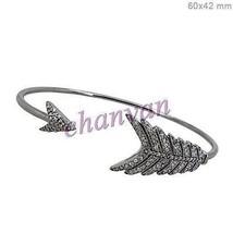 Antique INS 1.20Ct Rose Cut Diamond Sterling Silver Wedding Bracelet @CJ... - $5.551,26 MXN