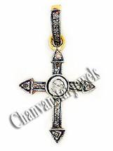 Antique Look 0.30 C Rose Cut Diamond Sterling Silver Cross Pendant @CJUK163 - $1.935,01 MXN