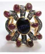 Antique Look 0.88 C RoseCut Diamond Sterling Silver Victorian Ring @CJUK169 - $163.23