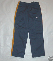 Nike Boys Athletic Pants Blue with Yellow Stripes on Sides Size 4 NWT - $17.44