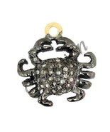 Antique/Vintage Look 0.50C Rose Cut Diamond 925 Sterling Silver Pendant ... - $128.75