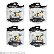 SET of 4 Gamecube Black Controllers Nintendo Wii Compatible Cirka White New - $19.99