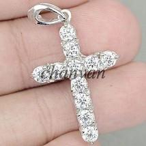 Holy Cross !! 0.60Ct Diamond Solid 10K White Gold Wedding Pendant @CSJUK237 - $327.55