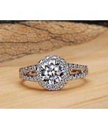 Solitaire Round Diamond 1.60 C Solid 14K Yellow Gold Engagement  Ring @C... - $299.33