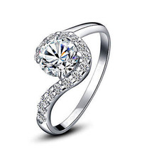 Solitaire Diamond 1.70 Ctw Solid White 14K Gold Wedding Gift Ring @CSJUK273 - $311.83
