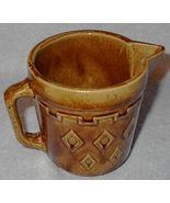 Vintage Heavy Brown Stoneware Pitcher - $9.95