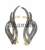 New Vintage 1.42Ct Rose Cut Diamond 925 Sterling Silver Earcuff Earring @CJUK246 - $259.42