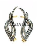 New Vintage 1.42Ct Rose Cut Diamond 925 Sterling Silver Earcuff Earring ... - $259.42