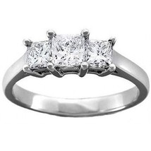 Three Princess Solitaire Diamond 2.00 C Solid 14K Gold Wedding  Ring @CJ... - $332.60