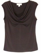 MICHAEL KORS RN 111818 Black Silky Cowl Neck Sleeveless Top/Cami/Shell Women: M - $34.09