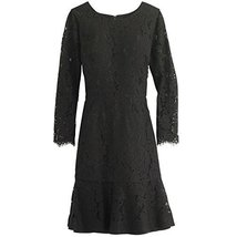 J. Crew Long Sleeve Floral Lace Dress (16, Black) - $87.54