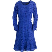 J. Crew Long Sleeve Floral Lace Dress (16, Black) image 2