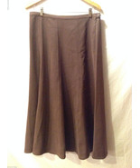 Denim & Co. Women's Size L Skirt Brown Suede-Like Maxi Length Side Butto... - $31.67
