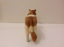 Light Brown and White Guernsey Cow Animal Figurine Recycled Rabbit Fur image 4