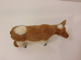 Light Brown and White Guernsey Cow Animal Figurine Recycled Rabbit Fur image 5