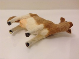 Light Brown and White Guernsey Cow Animal Figurine Recycled Rabbit Fur image 6