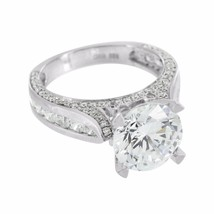 Round Cut Solitaire Ring Wedding White Gold Ove... - $79.99