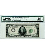 "US FR 2202-L ""HIGH DENOMINATION"" 1934A $500 FEDERAL RESERVE PMG 40EPQ - $1,995.00"
