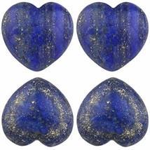 Rockcloud Healing Crystal Lapis Lazuli Heart Love Carved Palm Worry Stone Reiki - $27.89