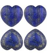 Rockcloud Healing Crystal Lapis Lazuli Heart Love Carved Palm Worry Ston... - $27.89