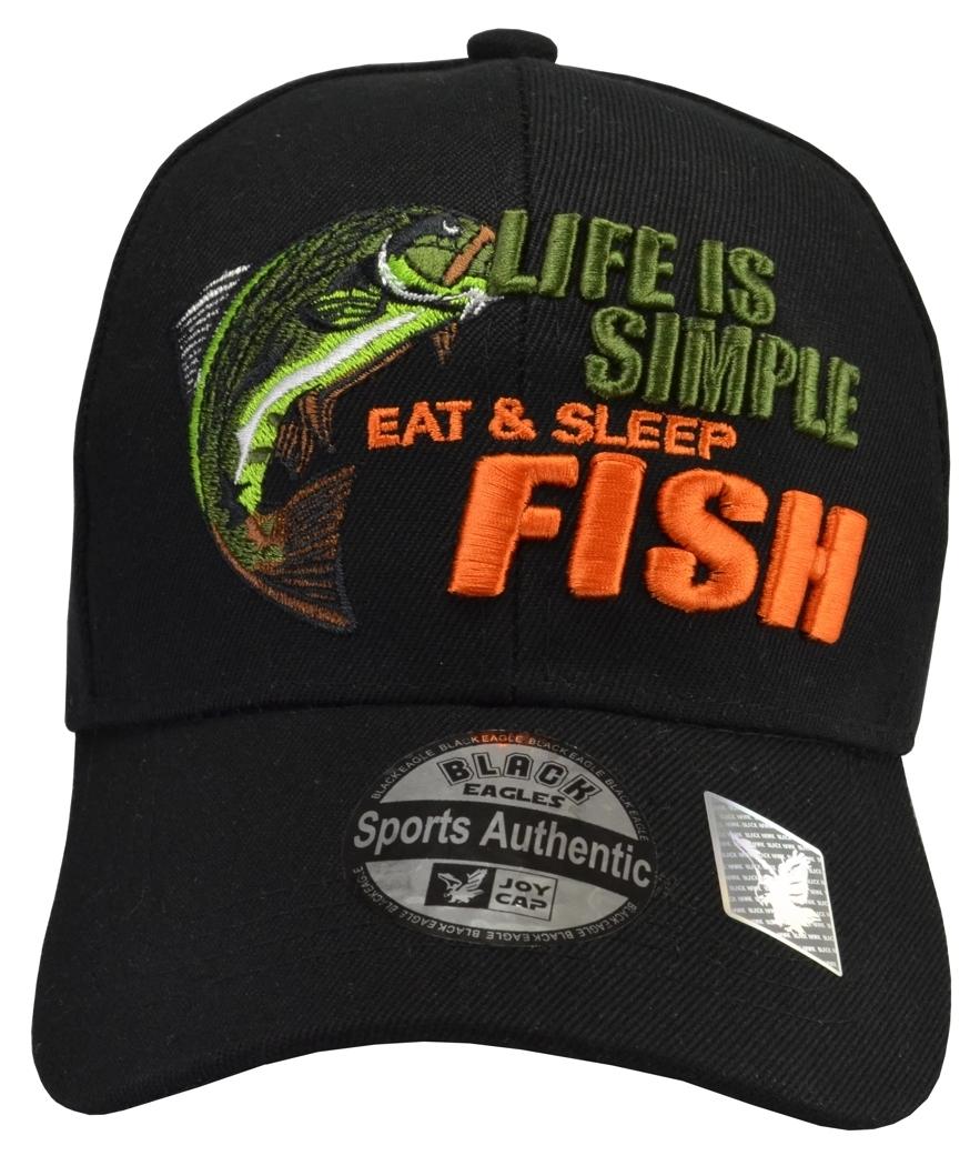 babd55835b5 Life is So Simple Eat   Sleep FISH hat sport and 50 similar items