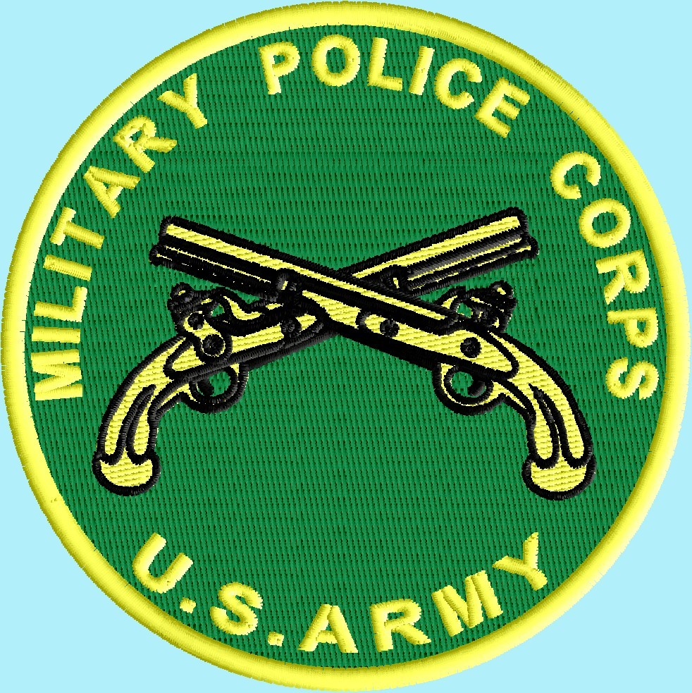 Army Military Police logo 3 size pack logo embroidery design
