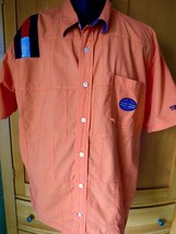 VTG TOMMY HILFIGER jeans Sailing Gear SHIRT orange s xxl Patchwork Flag - $27.72