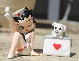Salt & Pepper Shakers - Betty Boop - Nurse Betty & Pudgy New Licensed 24050 - $14.00