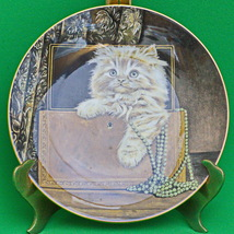 1985 Royal Worcester (England) Purrfect Treasure Kitten Classics Collector plate - $5.95