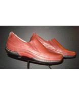 Dunham New Balance Brick Red Leather Casual Cool Driving Shoe Sz. 8B MINTY! - $53.76