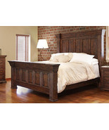 Rustic Mauve Queen Bed Real High Quality Wood - $1,781.99