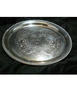 Vintage International Silver Silverplate Castleton Pat Large Round Servi... - $39.59