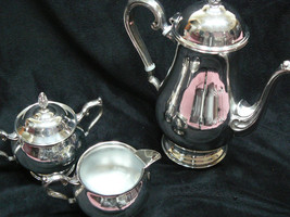 Beautiful Vintage Lenoard Silver plate Four Pie... - $98.99