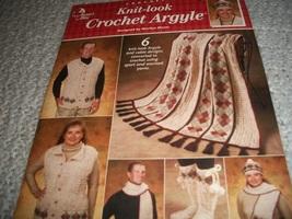 Crochet Knit-look Crochet Argyle - $5.00