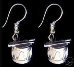 NICE New Sterling Silver Drum & Sticks Earrings set Jewelry - $33.13