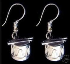 NICE New Sterling Silver Drum & Sticks Earrings set Jewelry - $33.13