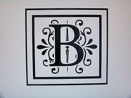 "Home Decor Initial Family Name Momogram Vinyl Lettering 12""x12"" All Colors  - $14.01"