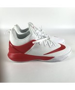 Nike Mens Zoom Shift TB Basketball Shoes Size 11.5 White Red 942802 102 - $88.11