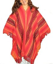 Alpakaandmore Womens Red Typical Cusco Poncho One Size (One Size) [Apparel] - $83.16