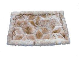 Alpakaandmore Alpaca Fur Rug Rhombus Design Handmade Different Sizes 35.5 X 2... - $103.95