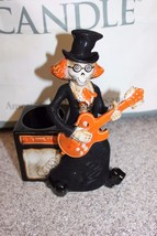 NEW Yankee Candle Boney Bunch Guitarist Candle Holder 2010 Halloween NIB - €58,86 EUR