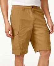 Tommy Hilfiger Men's 10 Inch Flat Front Cargo Shorts, 30, Chino