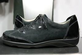 Finn Comfort shoes 7 C US 9.5 black patent leather suede mint oxfords  - $100.00