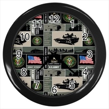 US Army Custom Black Wall Clock - $19.95