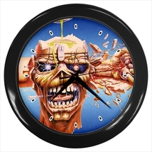Iron Maiden Custom Black Wall Clock - $19.95