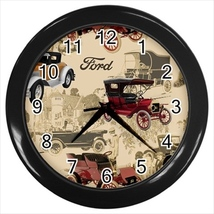 Vintage Ford Custom Black Wall Clock - $19.95