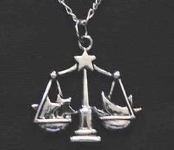 NICE Libra STAR Scale Pendant Zodiac Charm Silver Jewelry - $21.41