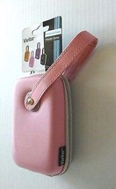 Vivitar Pink & Gray Wristlet Digital Camera Case Universal Cell Phone MP... - $12.95