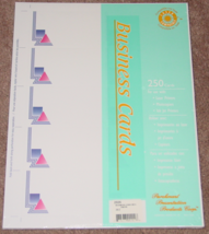 LETTERHEAD COMPUTER STATIONARY 250 BUSINESS CAR... - $8.00
